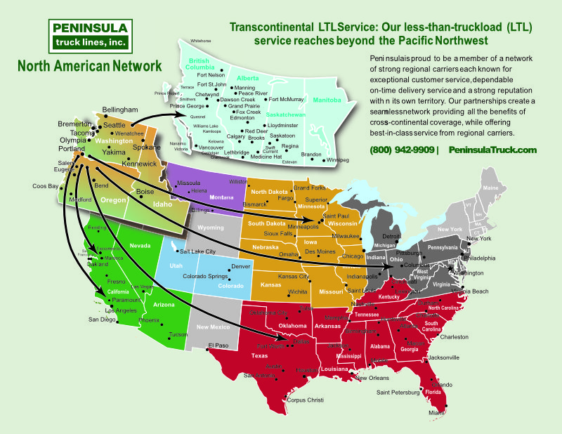 Link to North American Network Map